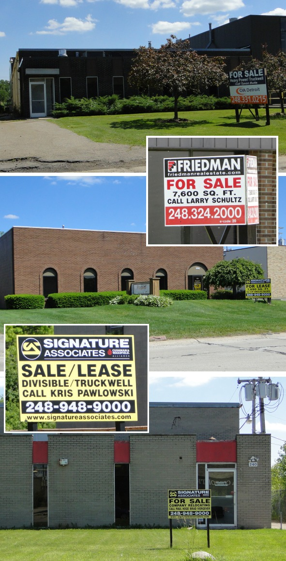 Some properties for sale in Troy's light industrial district