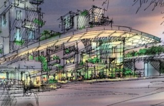 Rendering of planned multi-modal center in Troy