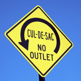 Cul-de-Sac traffic sign