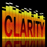"graphic of the word ""clarity"""