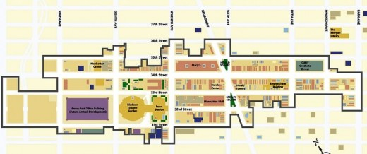 Map of 34th Street Partnership business improvement district