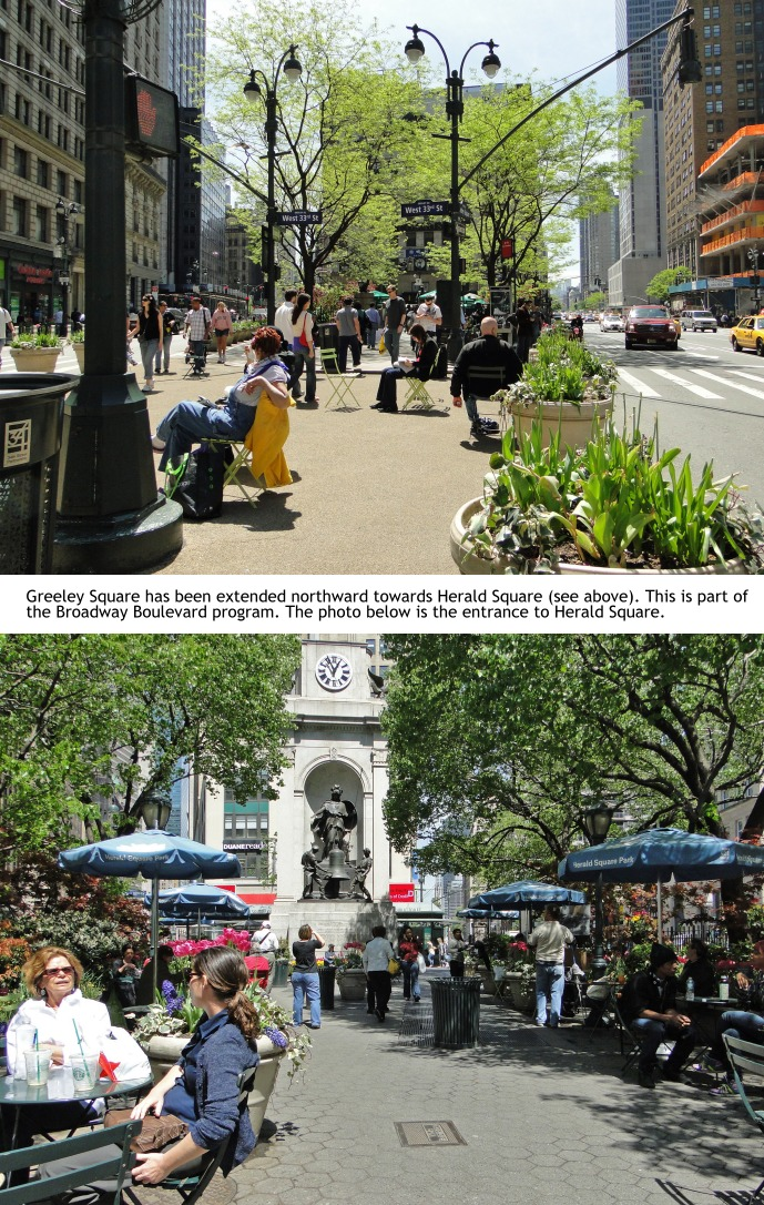 photos of Greeley Park in midtown Manhattan