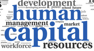 graphic with words human capital