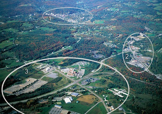 aerial photo of retail cluster near Montpelier, Vermont