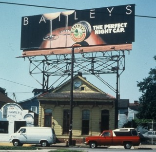 Billboard directly over a house