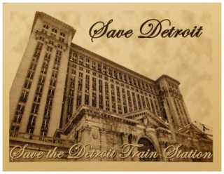 Save Detroit note card