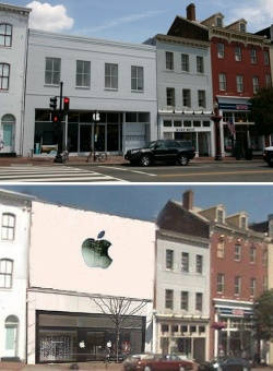 Apple Store in Georgetown neighborhood of Washington, D.C.