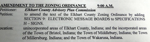 Zoning ordinance amendment title