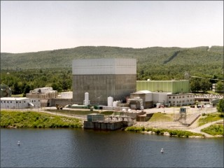 Vermont Yankee nuclear power plant in Vernon, Vermont, along the Connecticut River