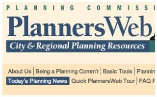 screenshot of menu bar highlighting City Planning News