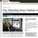 screenshot of City Planning News Update