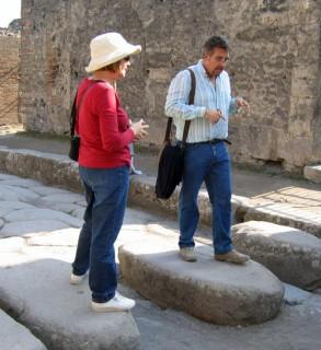 Crosswalk in Pompeii