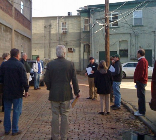 Participants in Aspinwall, Pennsylvania, walkabout