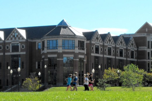 One of UConn's 18 residence halls