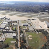 Aerial view of Brunswick Naval Air Station