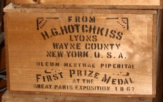 old crate used by H.G. Hotchkiss