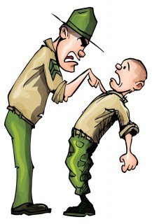 Cartoon of drill sergeant