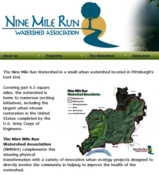 Nine Mile Run Association web page