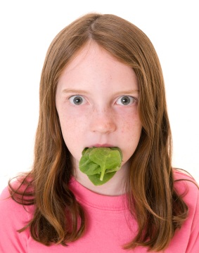 photo of a spinach hater