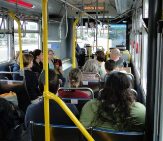 Participants from International Making Cities Livable conference heading out to Belmont/Sunnyside Neighborhood.