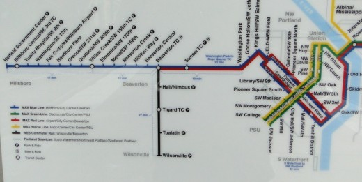 TriMet rail map