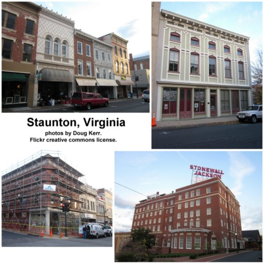 Staunton, Virginia, photos by Doug Kerr; Flickr creative commons license
