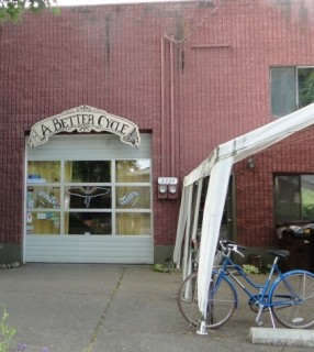 A bike shop on Division Street in Portland, Oregon.