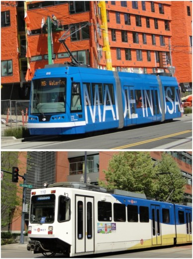 The Portland metro area has invested heavily in expanding its transit system. Besides an extensive bus network, there are light rail lines, plus a streetcar network within Portland. Streetcars are manufactured by United Streetcar in a Portland area suburb.
