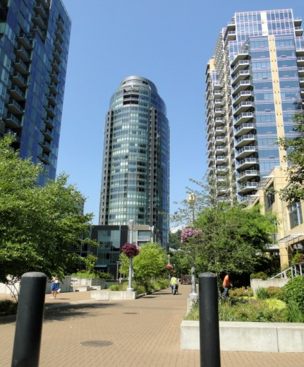 New towers in Portland's South Waterfront District