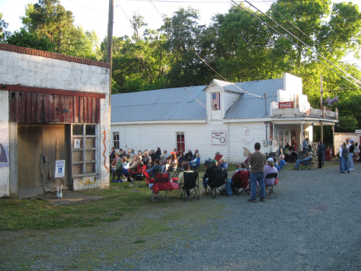 Weekly music played by Bynum's General Store from May to August.