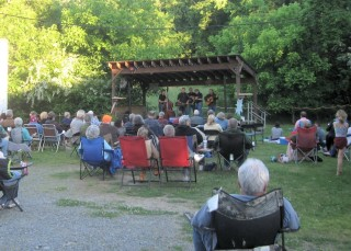 Music in a Haw River town. Photo by Deepa Sanyal.