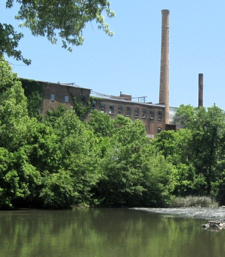 Old mill along the Haw River.