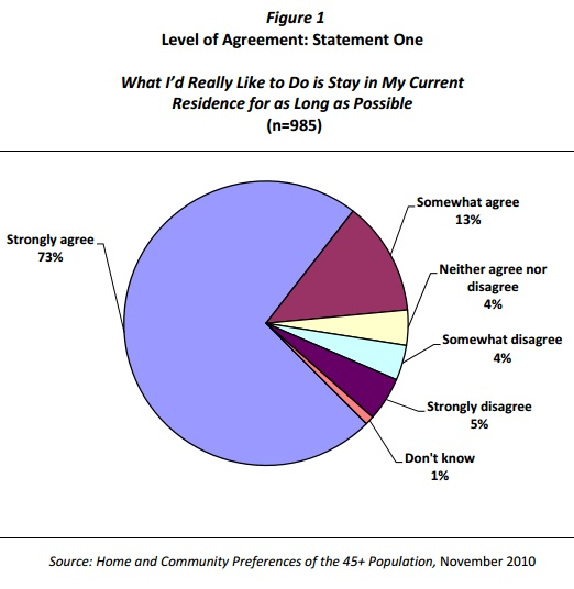 Aging in place pie chart