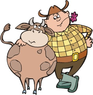 The farmer and the cowman drawing