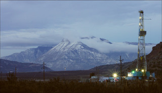 Oil Well -- Western Colorado. Photo courtesy of Glenwood Post Independent.