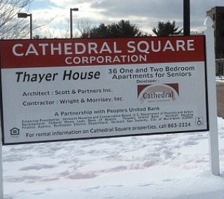 sign outside Thayer House