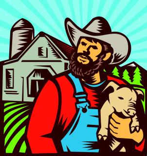 Farmer-Holding-Piglet