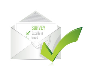 image of letter with a survey form inside
