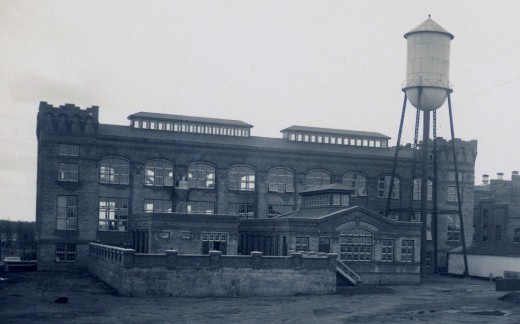Old photograph (undated) of part of the paper mill.
