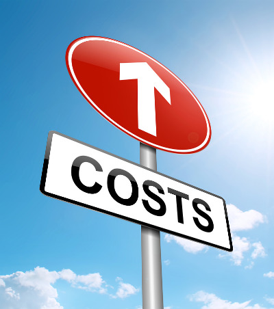 Sign pointing to higher costs