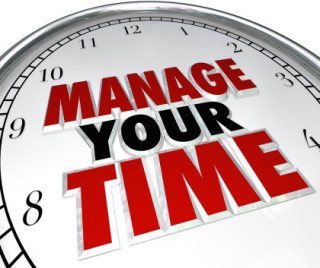 "illustration of clock face with words ""Manage Your Time"""