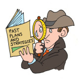 Detective work illustration by Marc Hughes for PlannersWeb