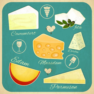 cheese illustrations