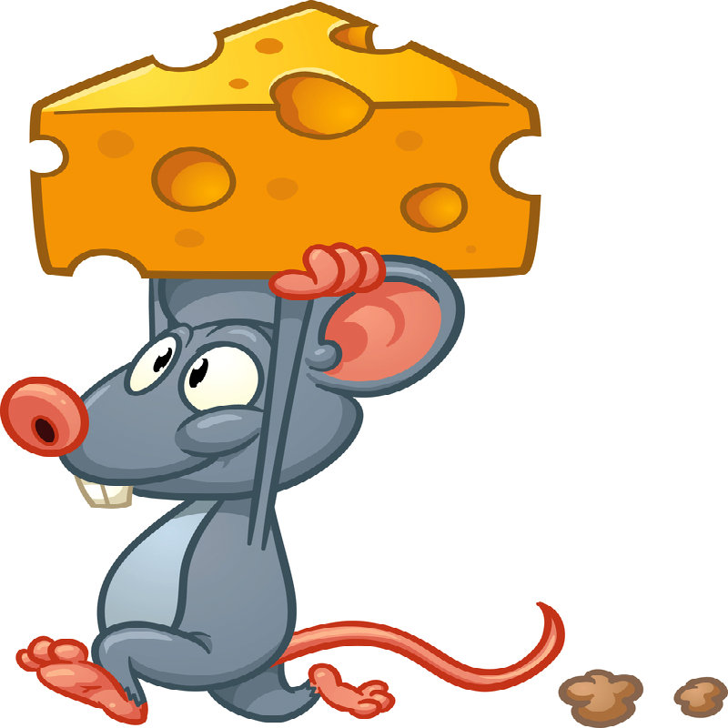 Mouse Cartoon With Cheese On Head Square Plannersweb