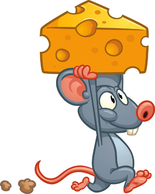 Mouse Cartoon With Cheese On Head Plannersweb