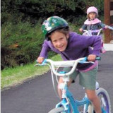 Young bike rider in Sartell, Minnesota