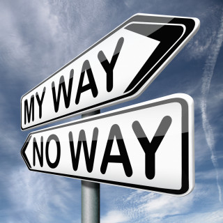Two road signs: My Way and No Way