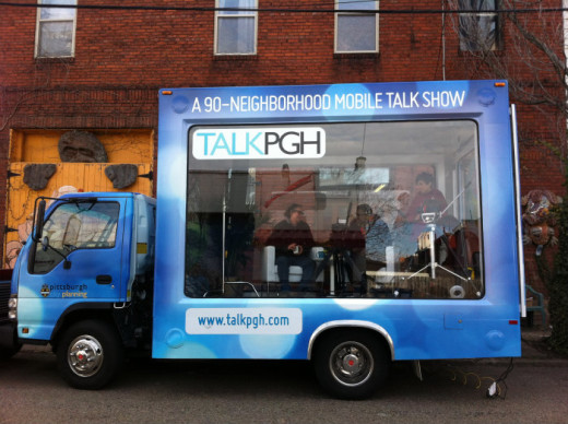 Talk PGH Mobile Van. Thanks to Andrew Dash, Andrew Dash, Pittsburgh Department of City Planning, for sharing the photo.