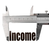 graphic with the word Income