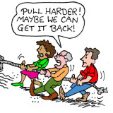 Pull harder illustration by Marc Hughes for PlannersWeb